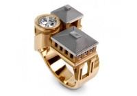 指间幻城 创意复古的构筑戒指